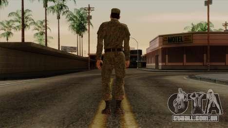 O processo moderno exército russo para GTA San Andreas terceira tela