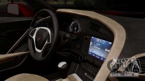 Chevrolet Corvette C7 Stingray 1.0.1 para GTA San Andreas vista traseira