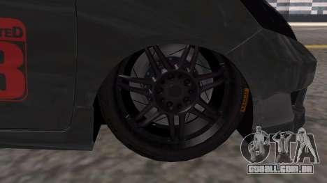 Honda Fit 2009 Faketaxi para GTA San Andreas traseira esquerda vista
