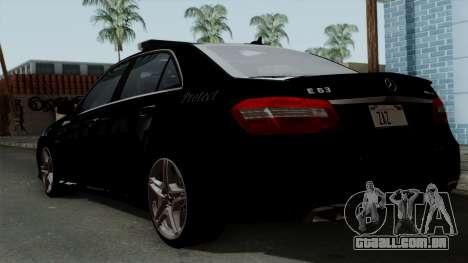 Mercedes-Benz E63 AMG Police Edition para GTA San Andreas esquerda vista