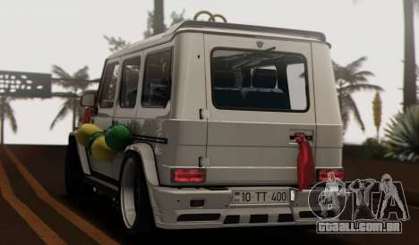 Mercedes Benz G65 Hamann Tuning Wedding Version para GTA San Andreas vista interior