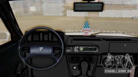 Tofas Turbo SLX 1.6 para GTA San Andreas traseira esquerda vista
