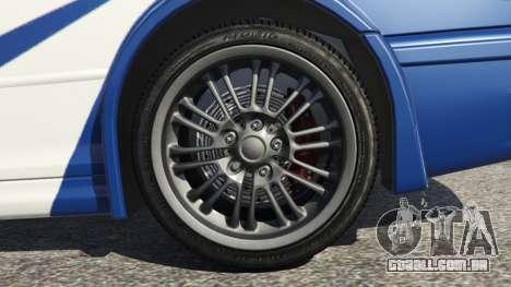 GTA 5 BMW M3 GTR E46 Most Wanted v1.3 traseira direita vista lateral