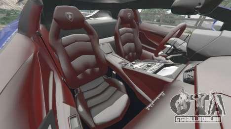 GTA 5 Lamborghini Aventador LP700-4 v1.2 frente vista lateral direita