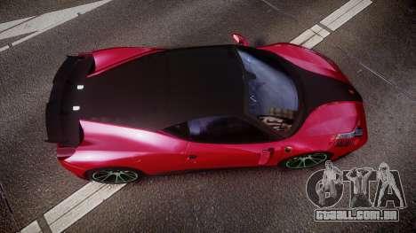 Ferrari 458 Italia Mansory Siracusa 2011 para GTA 4 vista direita