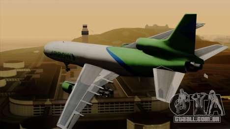Lockheed L-1011 TriStar Arrow Air Cargo para GTA San Andreas esquerda vista