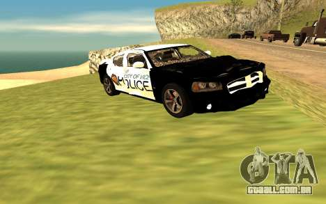Dodge Charger Super Bee 2008 Vice City Police para GTA San Andreas vista direita