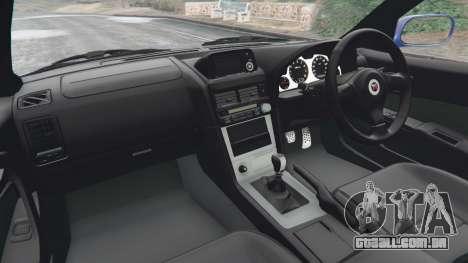 GTA 5 Nissan Skyline R34 GT-R v0.1 traseira direita vista lateral
