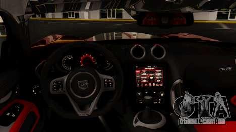 Dodge Viper SRT GTS 2013 HQLM (MQ PJ) para GTA San Andreas vista direita