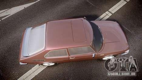 Saab 99 Turbo para GTA 4 vista direita