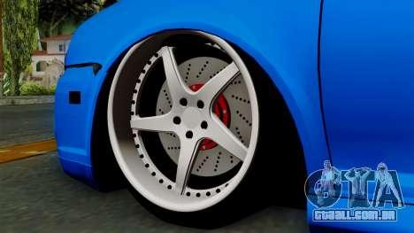 Volkswagen Golf Mk4 Stance para GTA San Andreas traseira esquerda vista