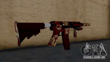 M4A1 Royal Dragon para GTA San Andreas segunda tela