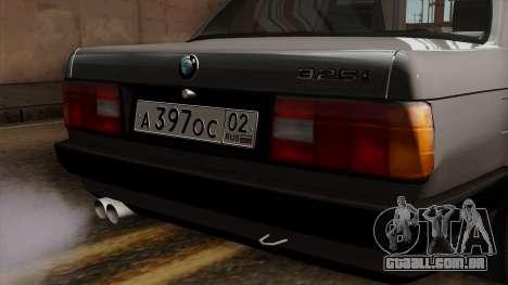 BMW 325i para GTA San Andreas vista traseira
