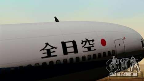 Lockheed L-1011 TriStar All Nippon Airways para GTA San Andreas vista traseira