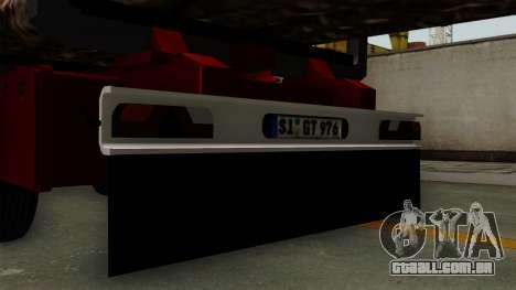 Trailer Fliegl v2 para GTA San Andreas vista direita