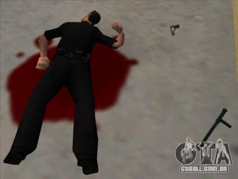 Weapons on the Ground para GTA San Andreas segunda tela
