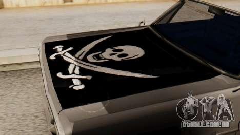 Vinil para Savana - Pirata casaco para GTA San Andreas vista direita