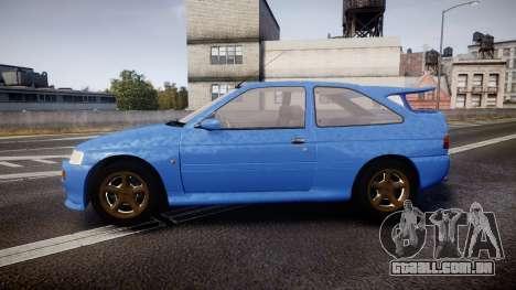 Ford Escort RS Cosworth para GTA 4 esquerda vista