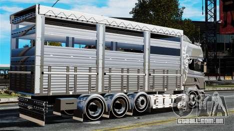 Scania R580 para GTA 4 esquerda vista