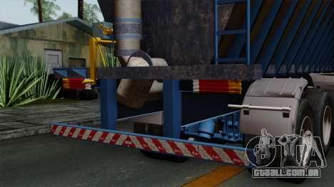 Trailer Silos para GTA San Andreas vista direita