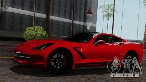 Chevrolet Corvette C7 Stingray 1.0.1 para GTA San Andreas interior