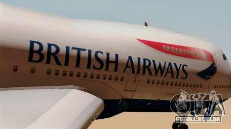 Boeing 747 British para GTA San Andreas vista traseira