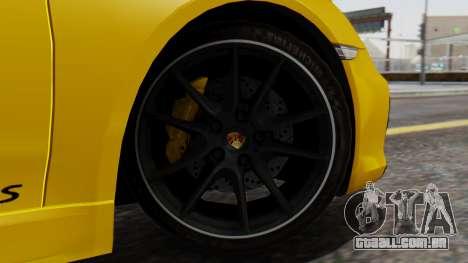Porsche Boxter GTS 2016 para GTA San Andreas traseira esquerda vista