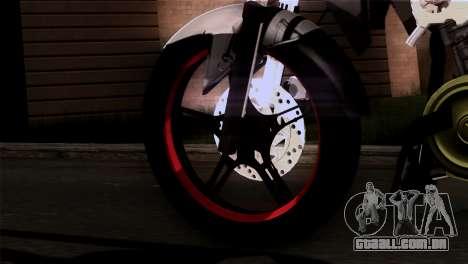 Yamaha Vixion Advance Lominous White para GTA San Andreas traseira esquerda vista