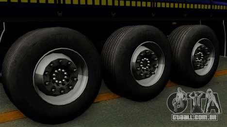 Trailer Krone Profiliner v3 para GTA San Andreas traseira esquerda vista