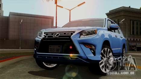 Lexus GX460 2014 v1 para GTA San Andreas vista traseira