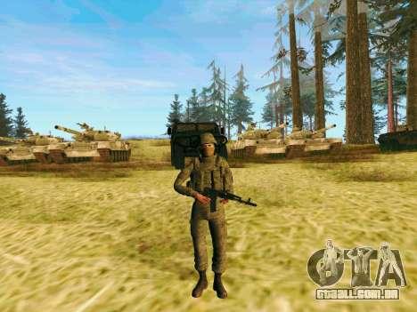 Pak combatentes das tropas especiais de GRU para GTA San Andreas segunda tela