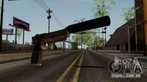 Original HD Silenced Pistol para GTA San Andreas