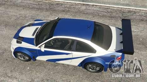 GTA 5 BMW M3 GTR E46 Most Wanted v1.3 voltar vista