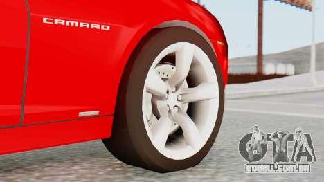 NFS Carbon Chevrolet Camaro para GTA San Andreas traseira esquerda vista