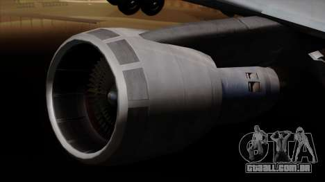 Boeing 747 Korean Air para GTA San Andreas vista direita