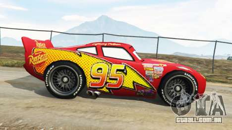 GTA 5 Lightning McQueen [Beta] vista lateral esquerda