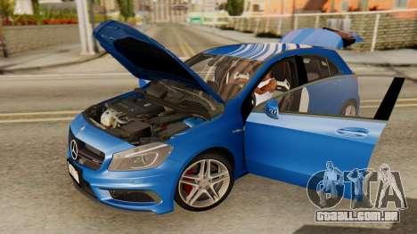 Mercedes-Benz A45 AMG 2012 PJ para GTA San Andreas vista traseira