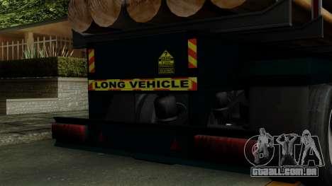 Trailer Log v2 para GTA San Andreas vista traseira