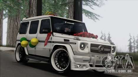 Mercedes Benz G65 Hamann Tuning Wedding Version para GTA San Andreas traseira esquerda vista