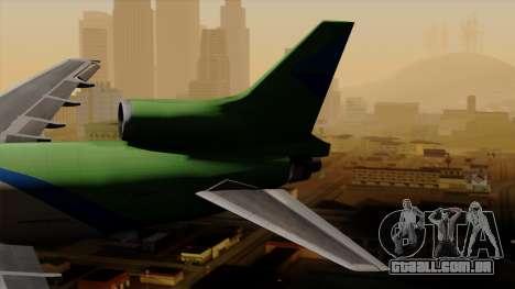 Lockheed L-1011 TriStar Arrow Air Cargo para GTA San Andreas traseira esquerda vista