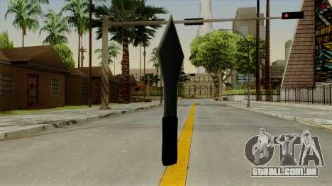 Faca de arremesso para GTA San Andreas