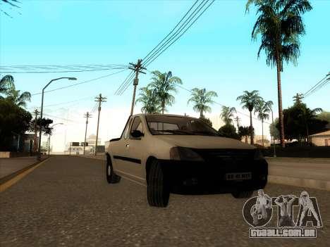 Dacia Logan Pick-up Necarosat para GTA San Andreas esquerda vista