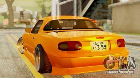 Mazda MX-5 BnSports para GTA San Andreas traseira esquerda vista