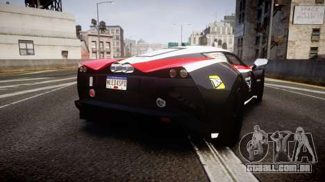 Marussia B2 2012 Jules para GTA 4 traseira esquerda vista