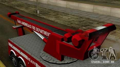 FDSA Heavy Rescue Truck para GTA San Andreas vista direita