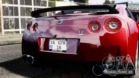 Nissan GT-R AMS 2012 para GTA 4 vista direita