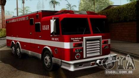 FDSA Urban Search & Rescue Truck para GTA San Andreas