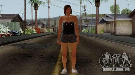 GTA 5 Online Female05 para GTA San Andreas segunda tela