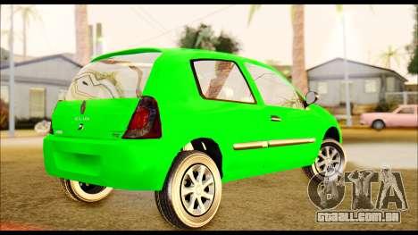 Renault Clio Mio para GTA San Andreas esquerda vista