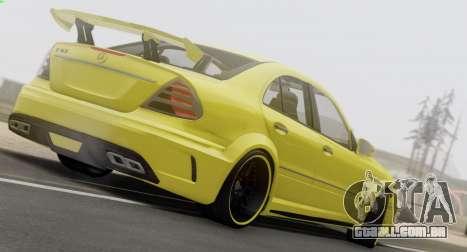 Mercedes-Benz E63 Qart Tuning para GTA San Andreas vista interior